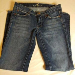 7 For All Mankind Straight Jeans Medium Wash 27